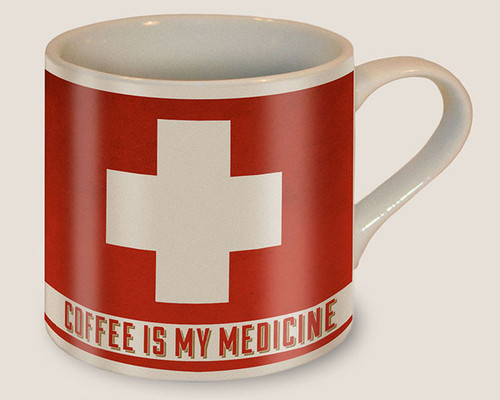 """COFFEE  IS  MY  MEDICINE""  MUG"