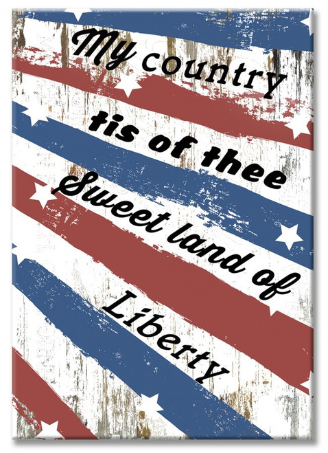 """USA  LIBERTY ""  WOOD  PRINT"