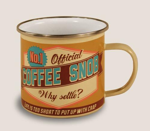 Coffee Snob - Enamel Mug