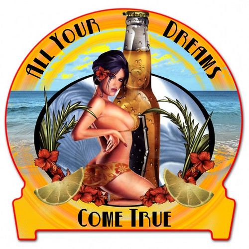 """TROPICAL  DREAMS""  METAL  SIGN"