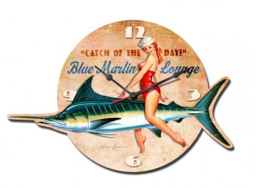 """Blue  Marlin  Lounge""  Clock"