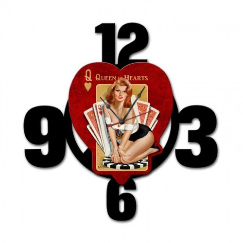 """""""Queen  Of  Hearts"""" Layered Clock"""