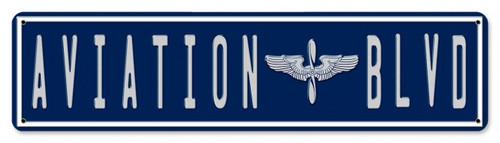 """AVIATION  BLVD""  METAL  STREET  SIGN"