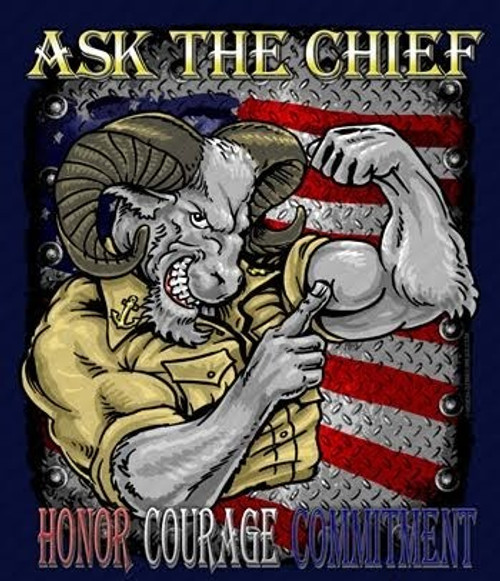 """""""ASK  THE  CHIEF""""  METAL  SIGN"""