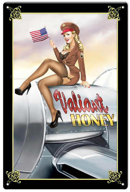 """VALIANT  HONEY""  METAL  SIGN"