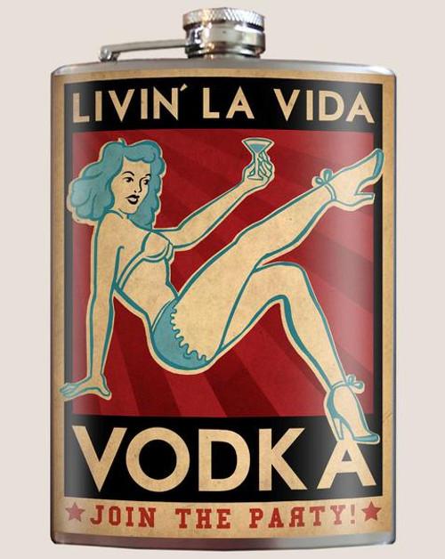 """""""La  Vida  Vodka""""  - Flask"""