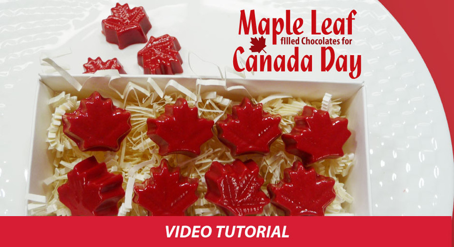 Maple Leaf Filled Chocolates for Canada Day