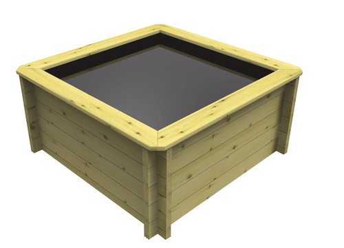 1M x 1M Square Wooden Fish Pond