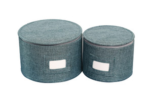 Teal Twill Hard-Shell Plates Protector (Set of 2)