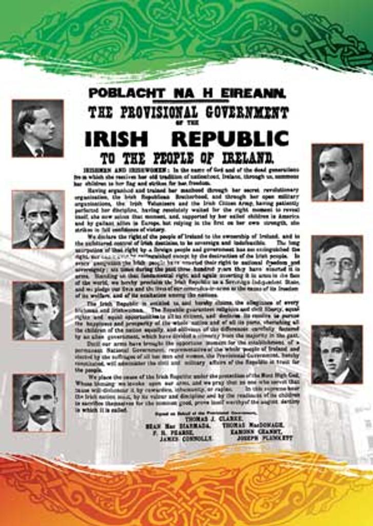 Irish Proclamation 1916 poster (GPO)