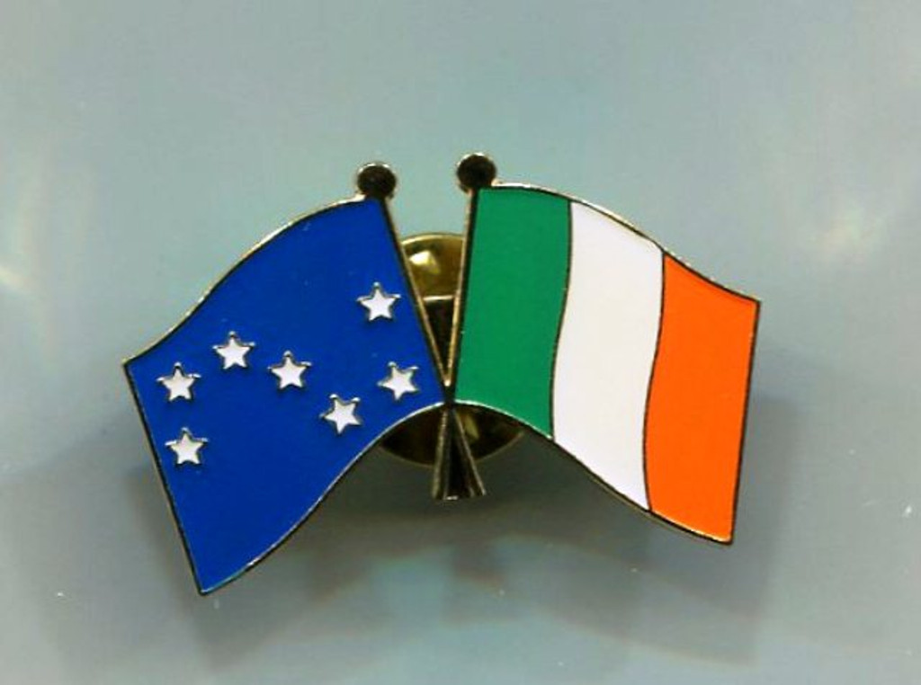 Starry Plough/Ireland Pin