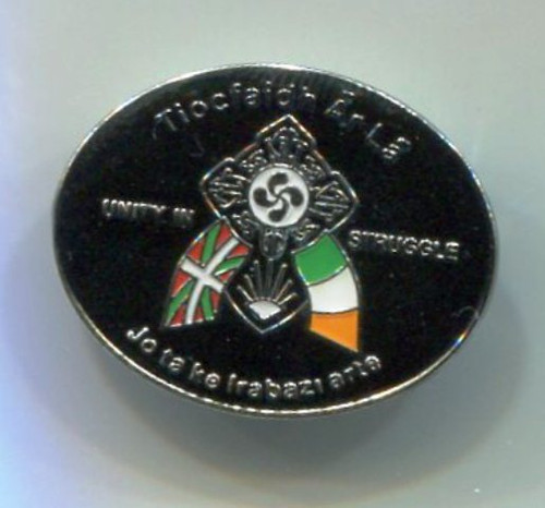 Euskal Herria (Basque Country) & Ireland - Unity In Struggle Badge