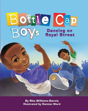 Written by Rita Williams-Garcia Illustrated by Damian Ward Official Release Date: October 15, 2015 (Order your copy now!)  Tap dancing on sidewalks, especially in the city's French Quarter, is a New Orleans tradition as familiar to some as Jazz, Creole and Cajun food and Mardi Gras. For generations, Black youngsters have danced for tourists on the streets of New Orleans some because they enjoy it, but many others to earn money for their families. Instead of dancing in store bought tap shoes, young boys and girls stamp and grind bottle caps into the soles of their sneakers until the bottle caps stay firmly in place at the toe. And they don't miss a beat! Clickity-clack, Clack......tipity-tap, tap tap......tipity-tap, tap In Bottle Cap Boys Dancing on Royal Street, award-winning author Rita Williams-Garcia introduces two bottle cap dancers, brothers Randy and Rudy. Through rich and upbeat rhyme, Williams-Garcia gives voice to the dancing and the youngsters who keep this unique New Orleans tradition alive. Damian Ward's exuberant illustrations are perfect complements to Williams Garcia s perfectly pitched poetry.  ABOUT THE AUTHOR  Rita Williams-Garcia is the celebrated author of many acclaimed books for children and teens. Her most known title, One Crazy Summer received the Coretta Scott King Author Award, the Newbery Honor, and the Scott O Dell Historical Prize for Fiction. Rita is on the faculty of Vermont College of Fine Arts MFA program for writing for children and young adults. She resides in Queens, New York and has two adult daughters. When Rita isn t writing, she is knitting, daydreaming, and boxing. Bottle Cap Boys Dancing on Royal Street is her second picture book.