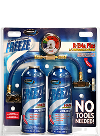 6412 | Freeze R-134A Plus - 2 Pack With Charging Hose
