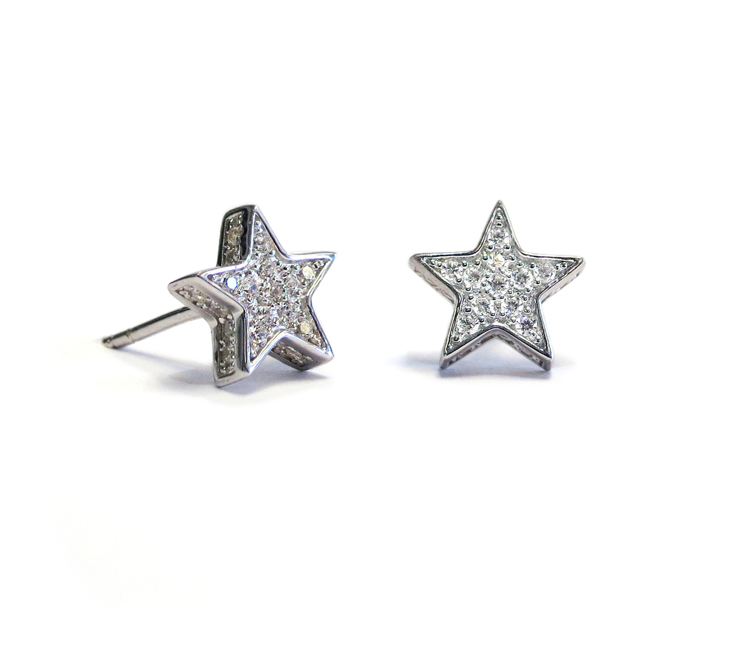 Touch Star Stud Earring Silver