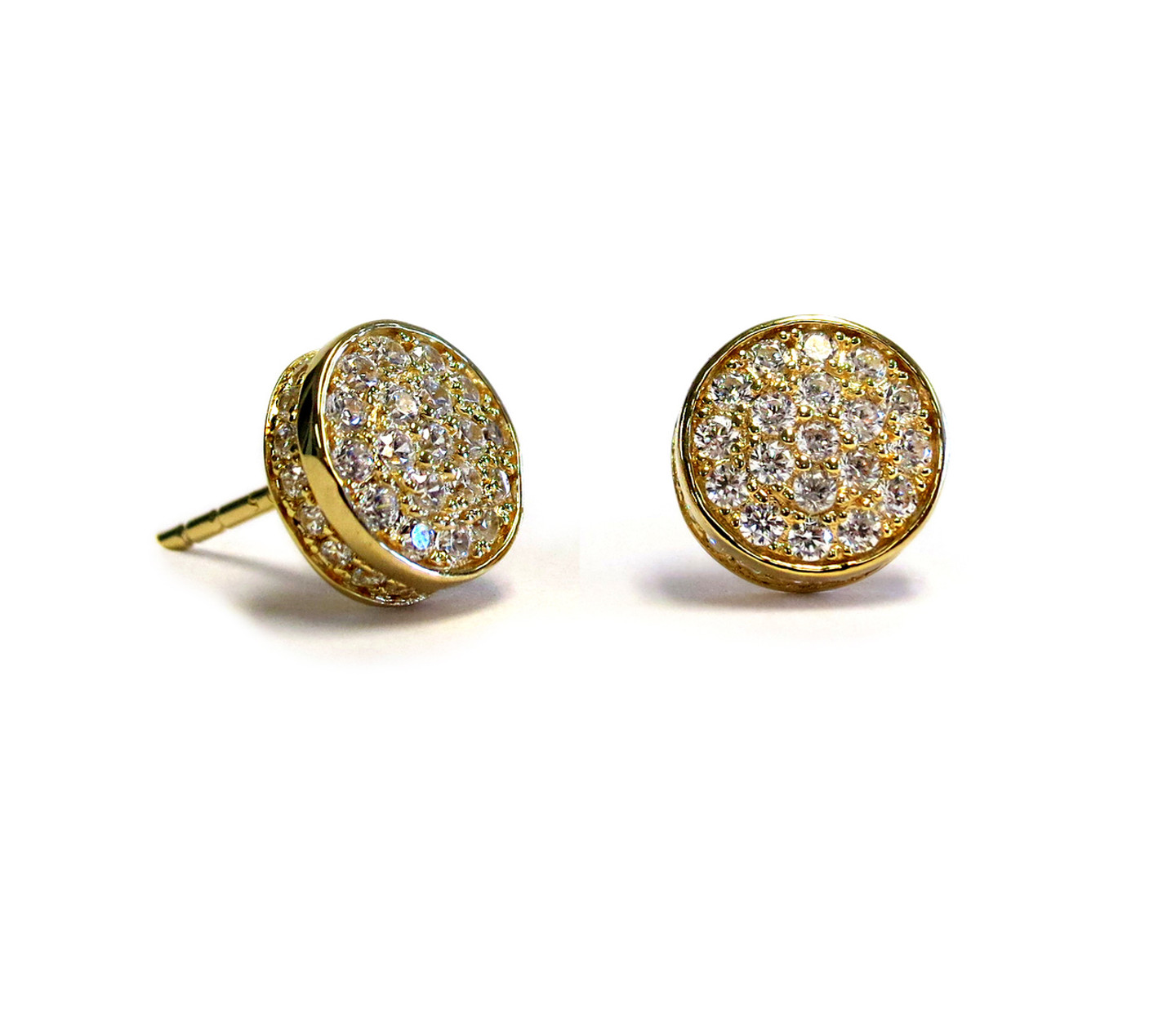 Touch Solar Stud Earring Gold