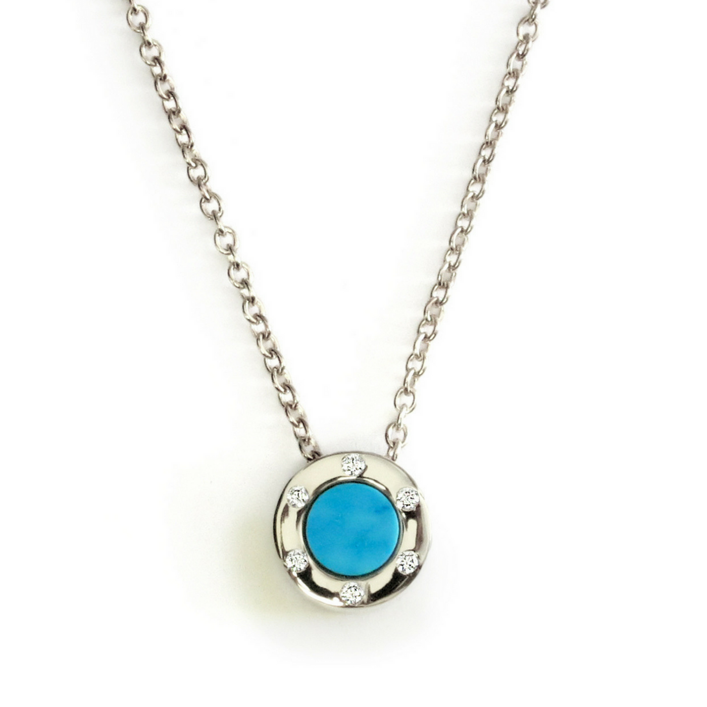 Touch Monte Carlo Turquoise Necklace Silver