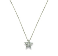 Touch Star Necklace Silver