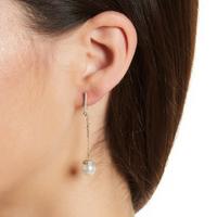 Champagne Pearl  Gold Earrings