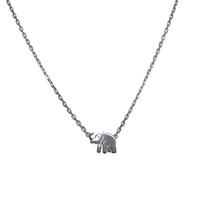 Silver Lucky Elephant Necklace