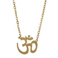 Gold OM Necklace
