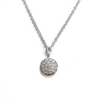 Delicate Solar Necklace Silver