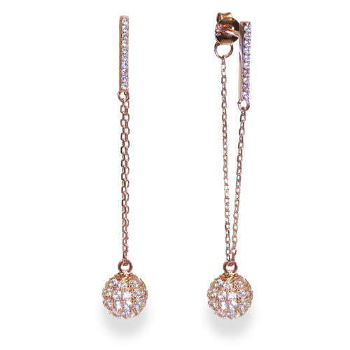 Champagne Earrings Rose Gold