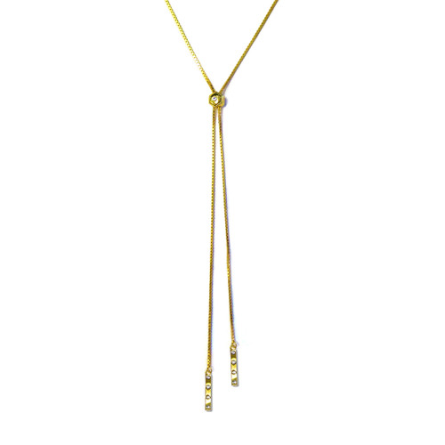 Tic Toc Lariat Necklace Gold