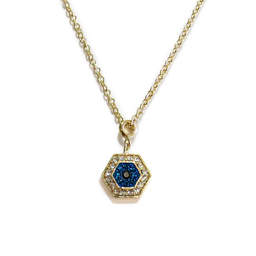 Delicate Evil Eye Necklace Gold