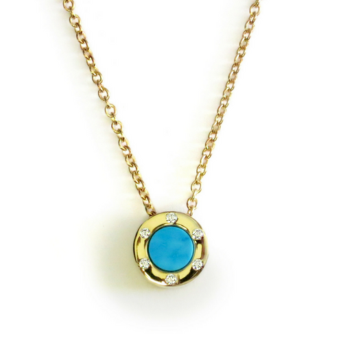 Touch Monte Carlo Turquoise Necklace Gold