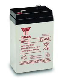 Yuasa NP4.0-6 6Volt 4AH Rechargeable Battery