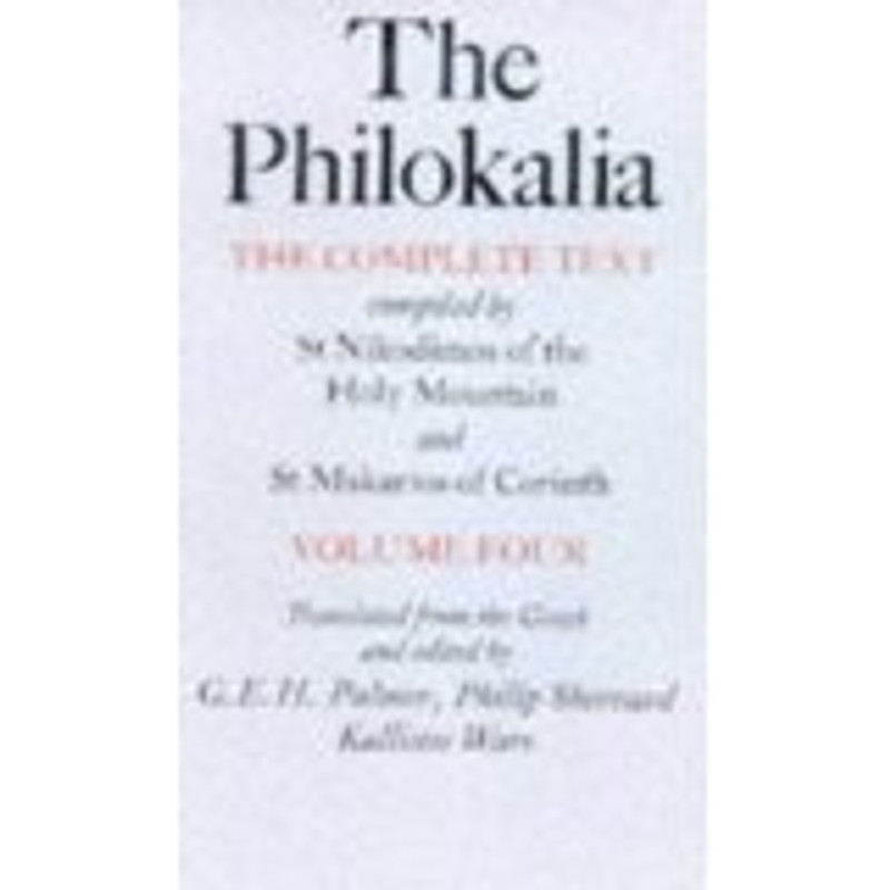 THE PHILOKALIA, V4 HARDCOVER