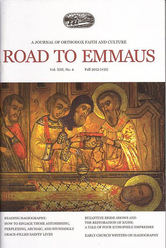 Hagiography  from the journal ROAD TO EMMAUS Vol. XIII, No. 4