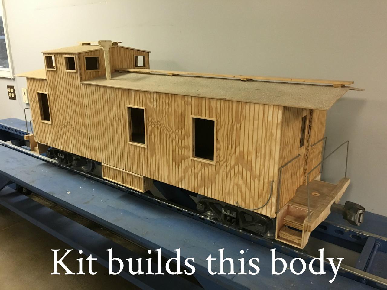 Wood Caboose End Cupola Body (Kit)