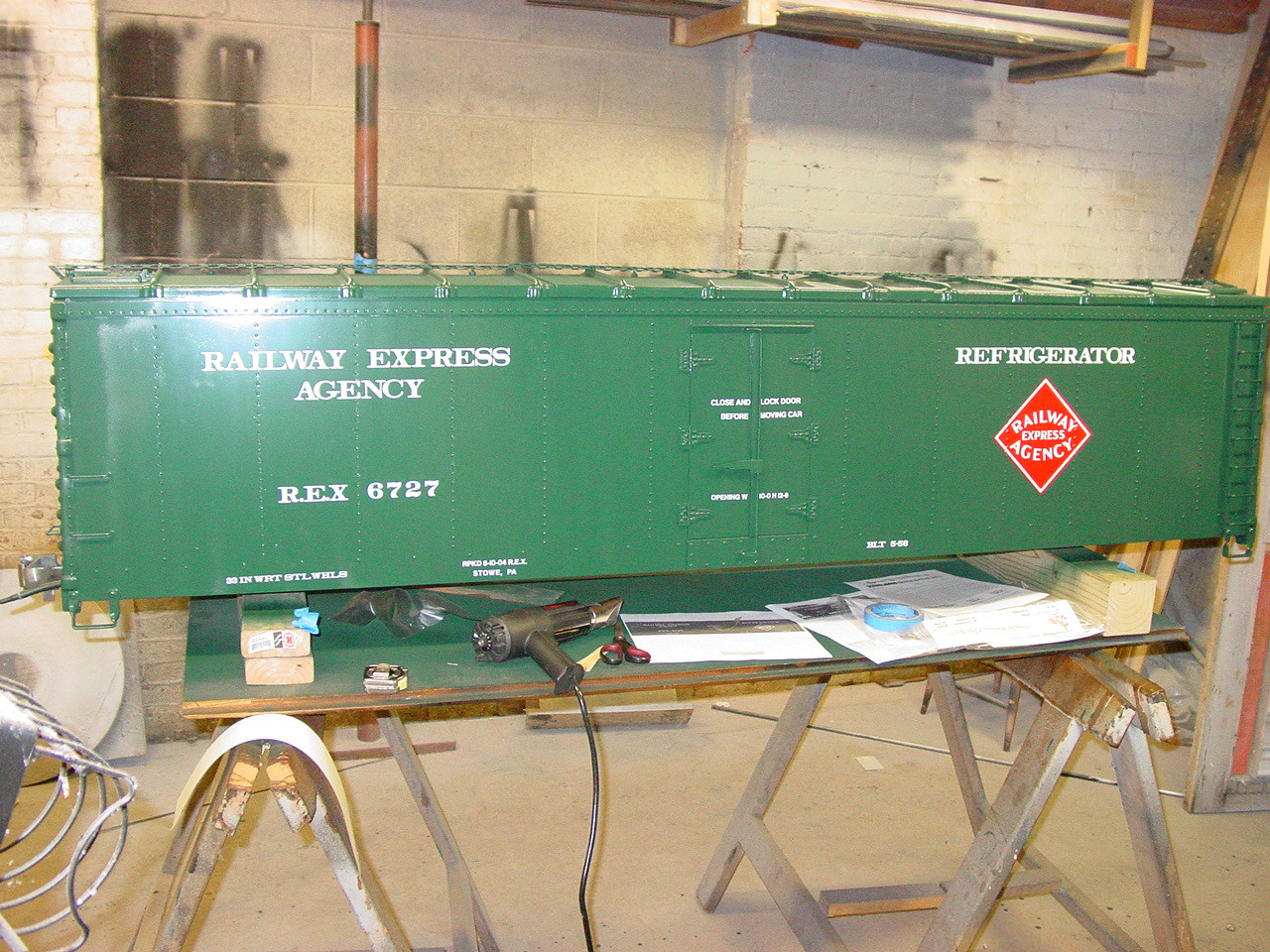 50' Express Reefer, Steel Type, with Ice Hatches (Assembled)