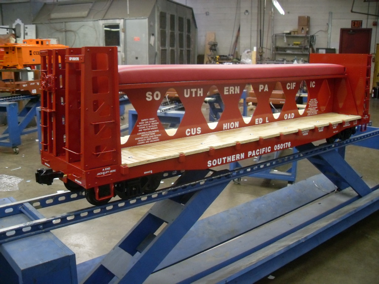 Bulkhead Flat Car Special with Modern Trucks and Couplers