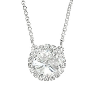 Clear Glam Party Necklace