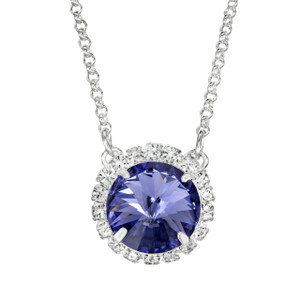 Violet Glam Party Necklace