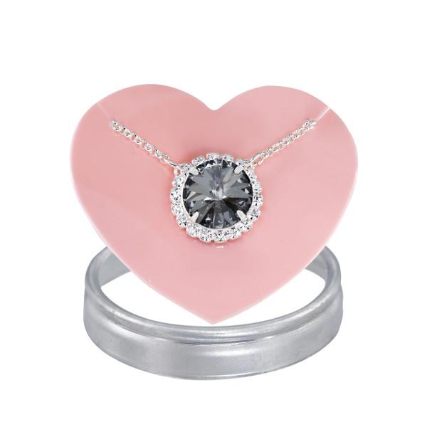 Black Sparkle Glam Party Necklace