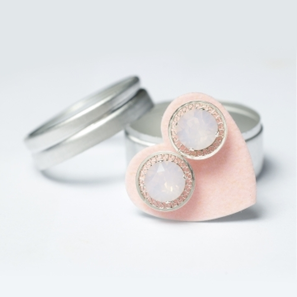 Pink Opal Filigree Mini Bling