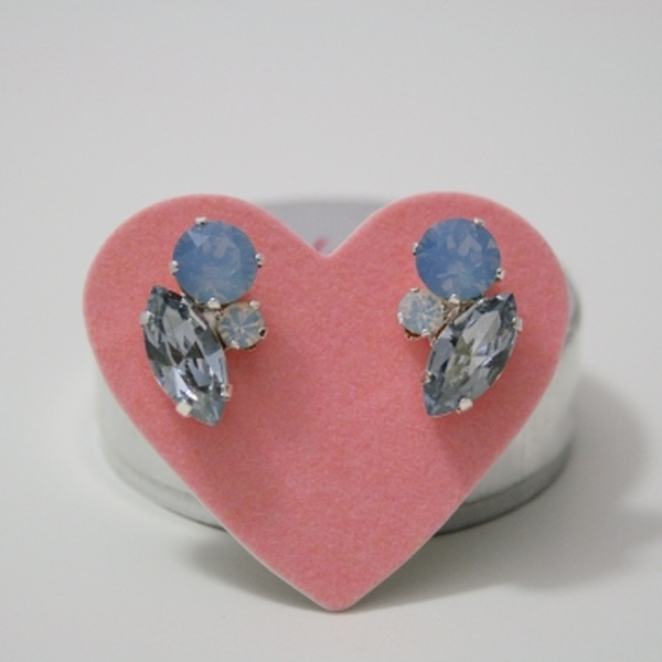 Blue Opal & Blizzard Cluster Bling