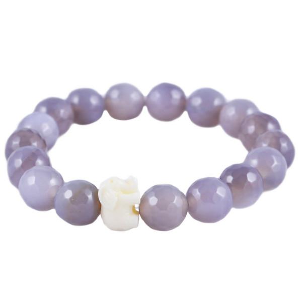 Grey & Cream Elephant Bracelet