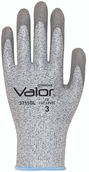 3711G: Valor 13 Gauge, Salt and Pepper , Cut Resistant Gloves