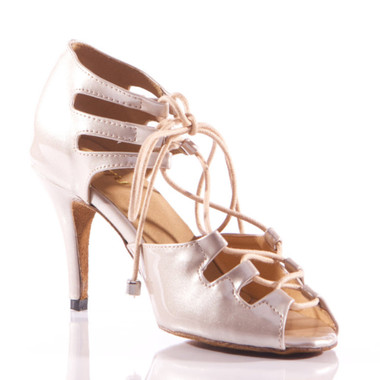 Alemana - Open Toe Lace Up Heels - Custom Made To Order - B1227