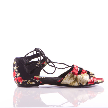 Legato - Lace Up Flat Sandal