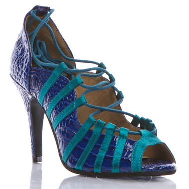 Tayla - Open Toe Lace Up Dance Shoe - Custom Made To Order - B1442