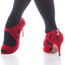 Camila - Red Faux Suede Open Toe Cutout Stiletto - 3.5 inch Heels