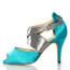 Jorjet - Open Toe Thick Crossing Ankle Strap Stiletto Dance Shoe - 3.5 inch Heels
