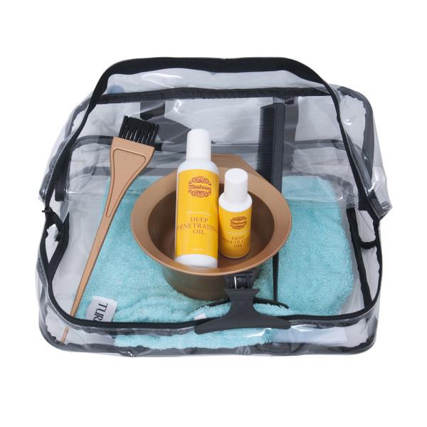Oil starter pack (25ml+100ml+tint brush+bowl+comb+turban+instruction leaflet)