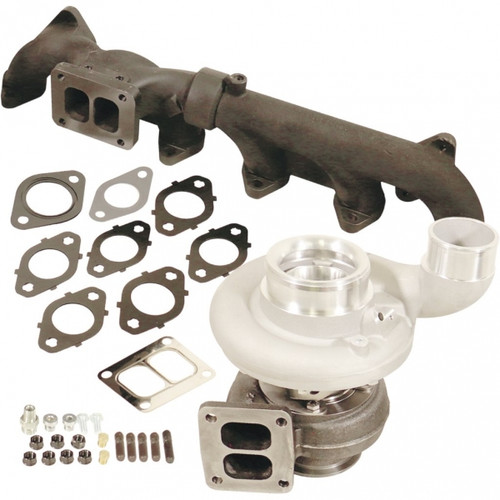 BD-Power 1045293 Iron Horn S363SX-E/80 0.91 AR Turbo Kit 2007.5-2018 Dodge 6.7L Cummins
